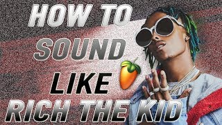 How to Sound Like Rich the Kid Vocal Effect Tutorial! FL Studio