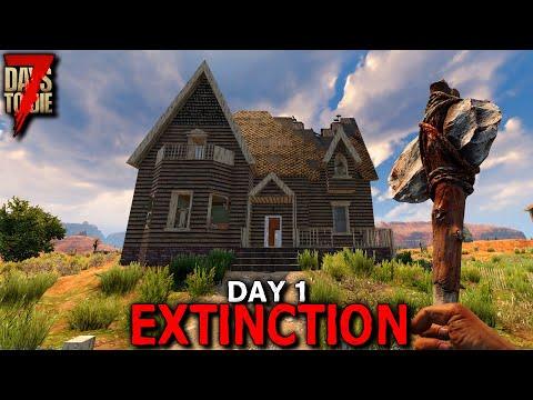 7 Days to Die: Extinction - Day 1 | 7 Days to Die (Alpha 19 Gameplay)
