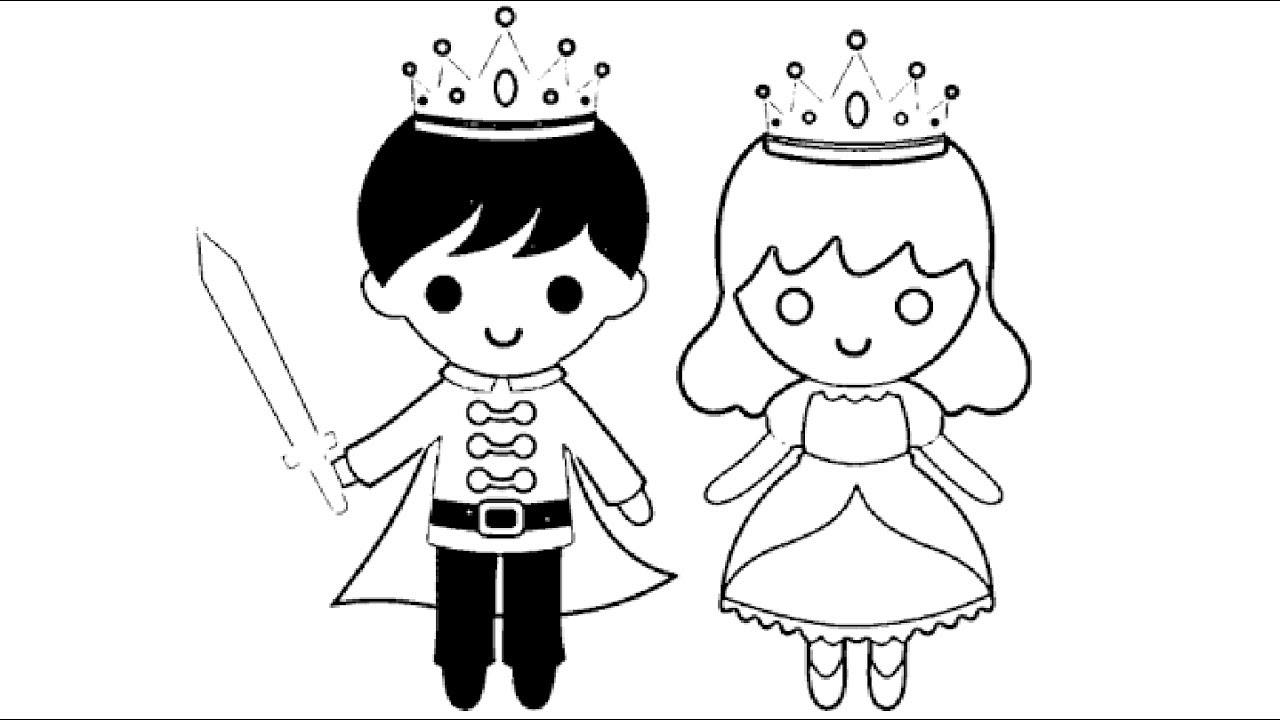 Little Boy King And Little Girl Queen Coloring Pages L Kids Coloring  Drawing Videos For Kids