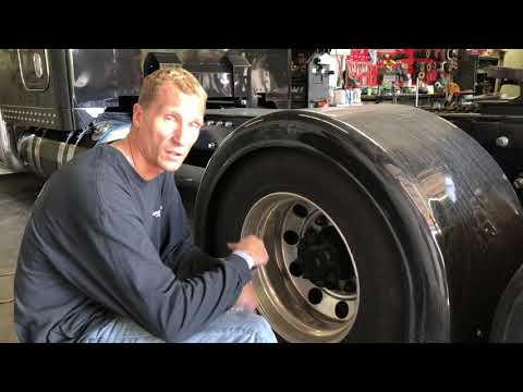 How to polish the back wall on a drive wheel mounted on a semi.