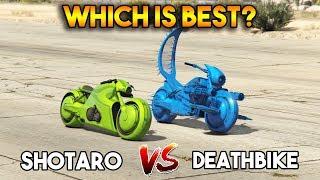 GTA 5 ONLINE : DEATHBIKE VS SHOTARO (WHICH IS BEST?)