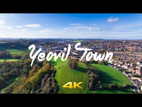 Drone Flight over Yeovil Town , Wyndham Hill & Ninesprings in 4K