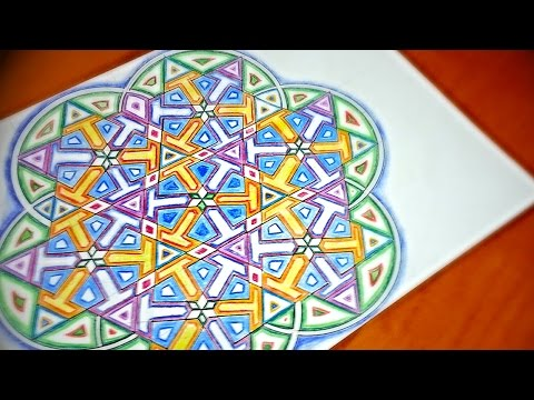 How To Draw Mandala With Islamic Star Patterns - 6 Fold Pointy Stars