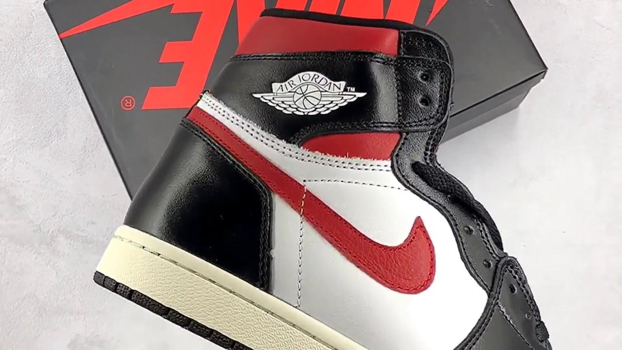 c7d100e2 Air Jordan 1 Black White Gym Red 555088-061 - YouTube