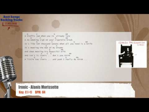 Ironic - Alanis Morissette Vocal Backing Track with chords and lyrics