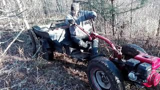 Мотоблоком по бездорожью там где трактор не проедет