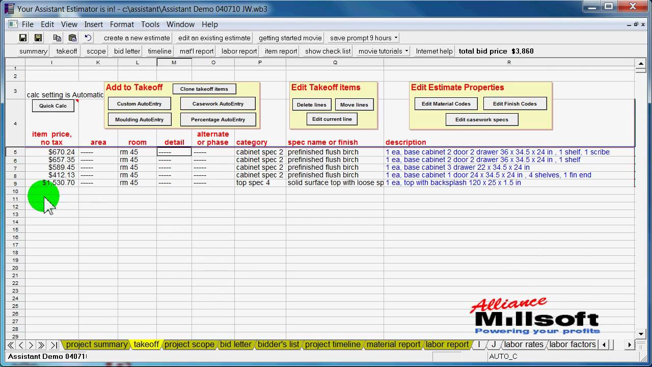 cabinet estimating software free intro to cabinet and millwork estimating software 462