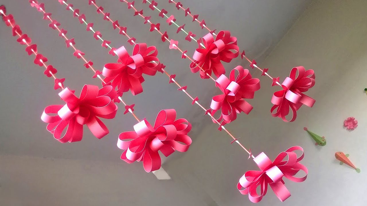 DIY Wall Hanging out of Paper   How to Make Paper Wall ...