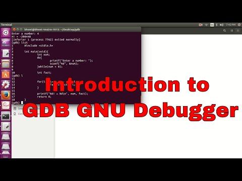 An Introduction to GDB GNU Debugger