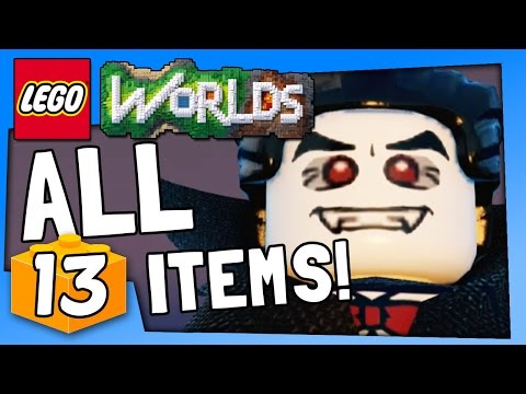 Lego Worlds - ALL ITEMS - PC Gameplay Walkthrough Part 13 | Pungence