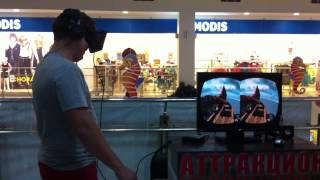 Мега ржач. Прикол. Андрей первый раз на Oculus Rift. Самара, Вива-Ленд.