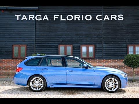 BMW 335d Xdrive M Sport Touring Automatic In Estoril Blue With Full Black Leather