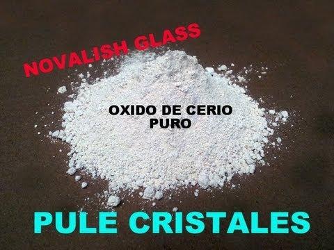 oxido de cerio pulidor de cristal y parabrisas MUY EFECTIVO.