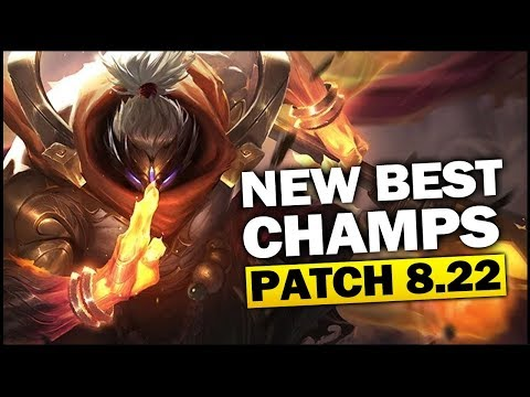 New Best Champions in Patch 8.22 SEASON 8 for Climbing in EVERY ROLE