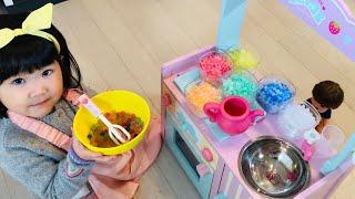 お店屋さんごっこ!レインボーアイス屋さん??おゆうぎ Kids Shop Icecream Toy Play