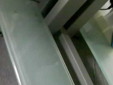 SCHROERS & SCHROERS GLASS TV STAND UNIT (4 tier)