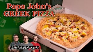 Papa John's Greek Pizza - Dudes N Space Reviews The New Pizza From Papa John's