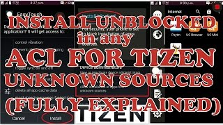How to INSTALL UNBLOCKED IN ACL FOR TIZEN for UNKNOWN SOURCES.(NOT FOR 2.3.3 ACL) Samsung Z1,Z2,Z3