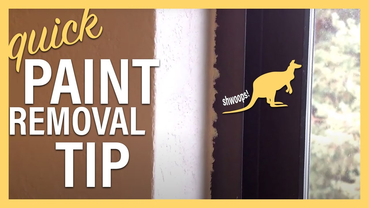 The Best Way To Remove Latex Paint From WIndow Frames   See Description