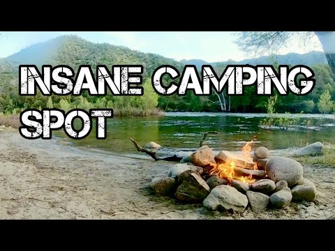 Trout Fishing & Free Camping In The Sierra Nevada Mountains (Part 2) INSANE CAMPING SPOT!!!!