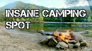 Trout fishing & fŗee camping in the Sierra Nevada Mountains (Part 2) INSANE CAMPING SPOT!!!!