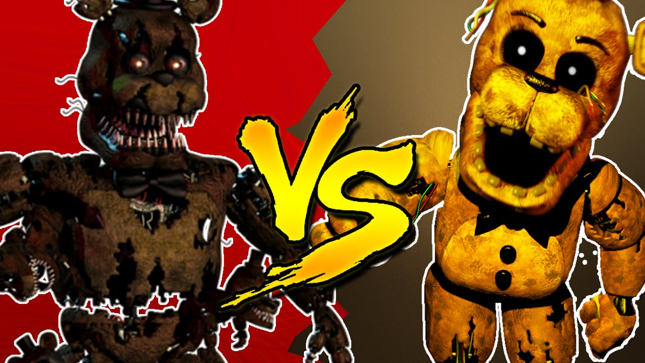 nightmare freddy vs golden freddy