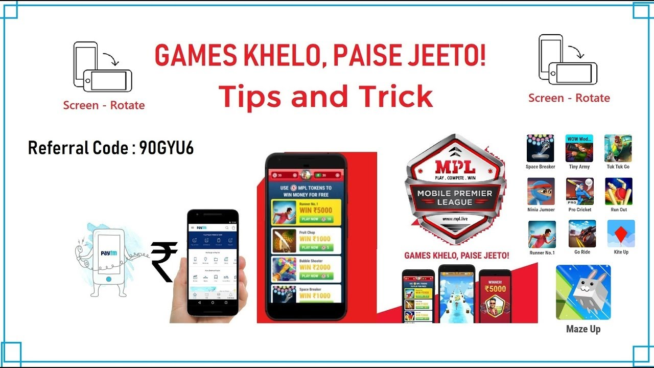 MPL Pro Game App Tips and Trick | MPL Screen Rotate | Don't Add Money On  MPL | Technical Web Support