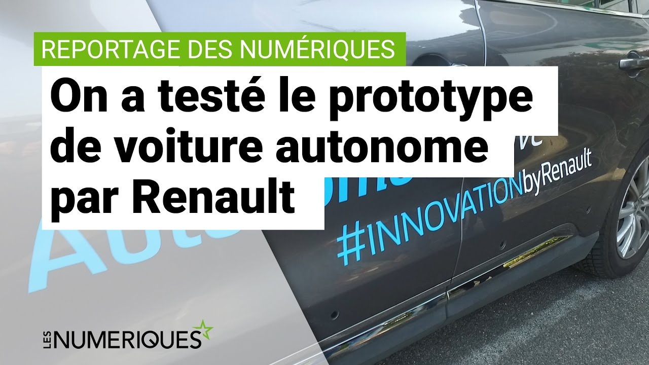 on a test le prototype de voiture autonome par renault youtube. Black Bedroom Furniture Sets. Home Design Ideas