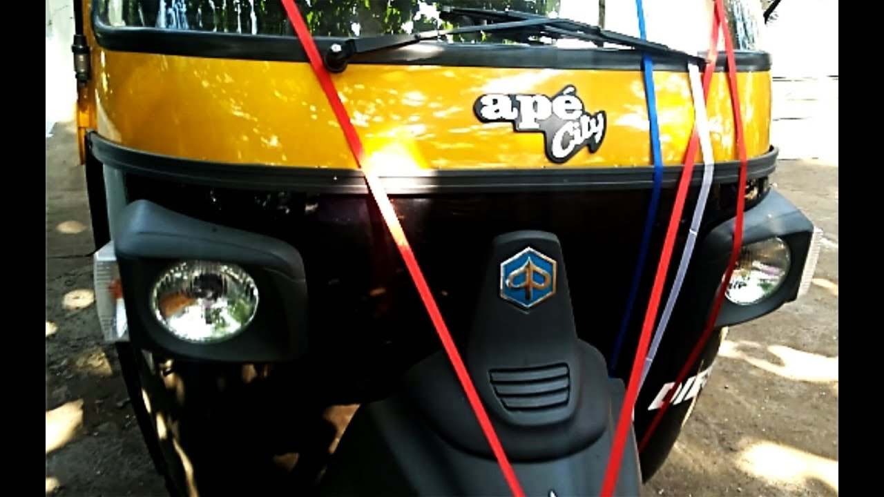 Piaggio Ape City Diesel Compact Autorickshaw complete review including  engine, price, mileage, specs