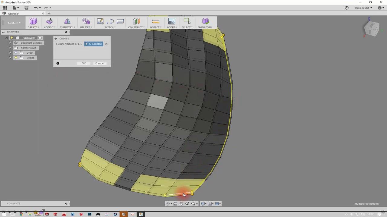 Workflow : Convert tri-mesh into quad-mesh (Meshlab and Fusion360)