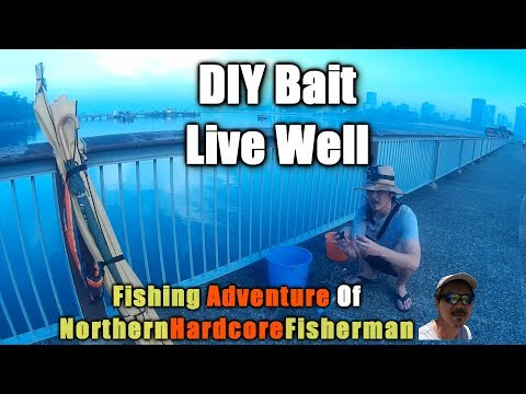 Singapore Fishing Trip Woodlands Waterfront Jetty Part 1 : DIY Bait Live Well | FishingAdvNHF