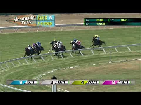 video thumbnail for MONMOUTH PARK 07-04-20 RACE 5