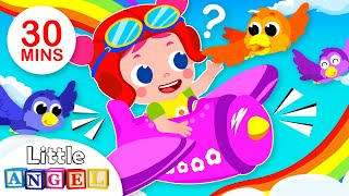 Jill Flies Over the Rainbow | Airplane Song | Kids Songs & Nursery Rhymes by Little Angel