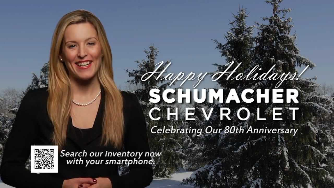 holiday greetings from schumacher chevrolet in little falls nj youtube. Black Bedroom Furniture Sets. Home Design Ideas