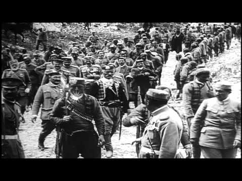 Ottoman Essad Pasha surrenders Scutari, Albania, to forces of Montenegro, in 1st ...HD Stock Footage