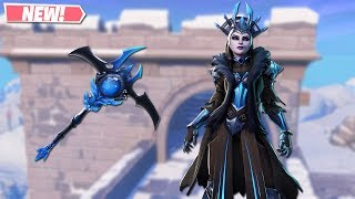 NEW ICE QUEEN SKIN GAMEPLAY! NEW LEAKED SKINS ON FORTNITE!! FORTNITE BATTLE ROYALE!!!