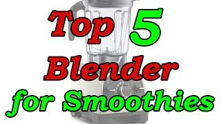 Top 5 Best Blenders for Smoothies 2018