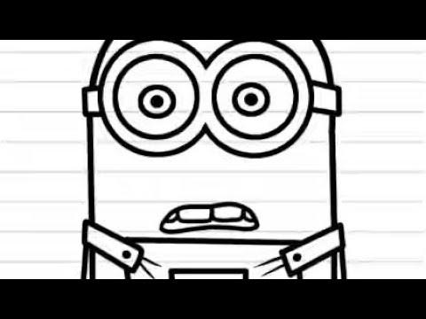 Cara Menggambar Minion Dengan Mudah Youtube