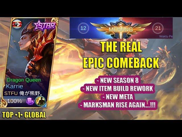 KARRIE New Build Gameplay By ?????? Meta Marksman Bersinar Lagi ? Mobile Legends
