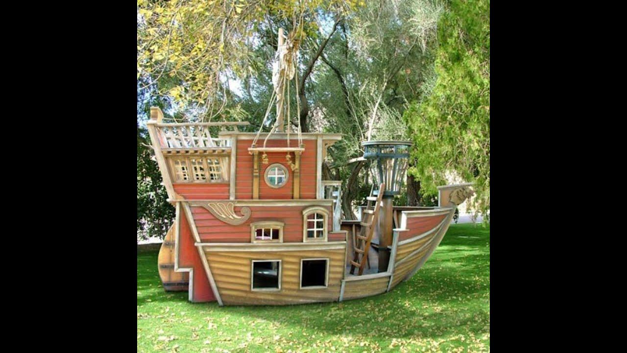 Домик для детской площадки из дерева своими руками