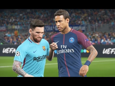 [HD] Neymar vs FC Barcelona - Gameplay PES 2018 Solo Superstar