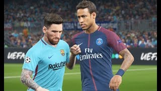 HD Neymar vs FC Barcelona   Gameplay PES 2018 Solo Superstar