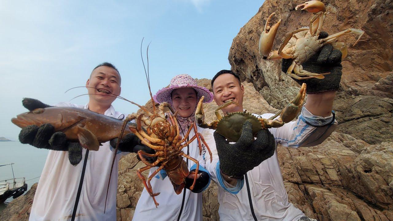 小明刚发现五百一斤大红斑,接着又是两只大螃蟹,最后还有大惊喜