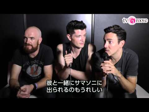 "THE SCRIPT Interview in JAPAN! 「ザ・スクリプト」来日インタビュー! 秘技""顔ドラム""を披露"