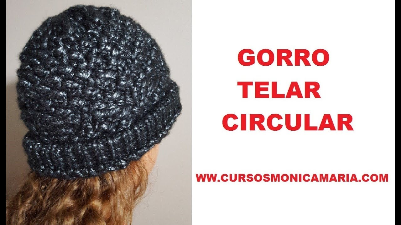 GORRO FACIL COLOR NEGRO TELAR CIRCULAR // Tutorial paso a paso - YouTube