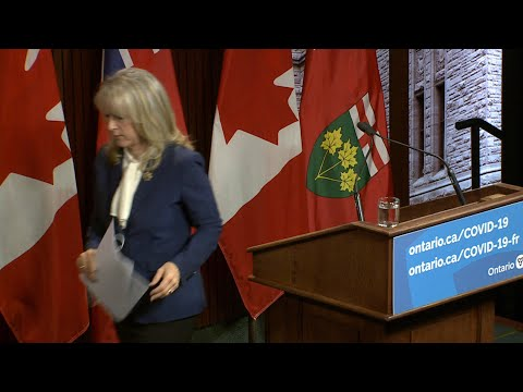 WATCH: Ontario's long-term care minister walks out of press conference | COVID-19 crisis in Canada