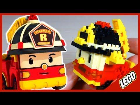 Видео: Лего. Робокар Рой. LEGO. Cartoon Robocar