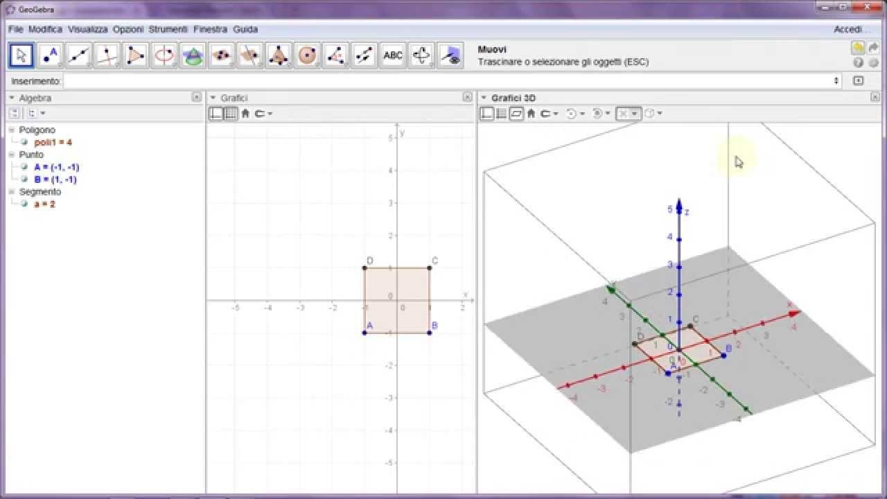 geogebra v 5 un assaggio della vista grafici 3d youtube. Black Bedroom Furniture Sets. Home Design Ideas