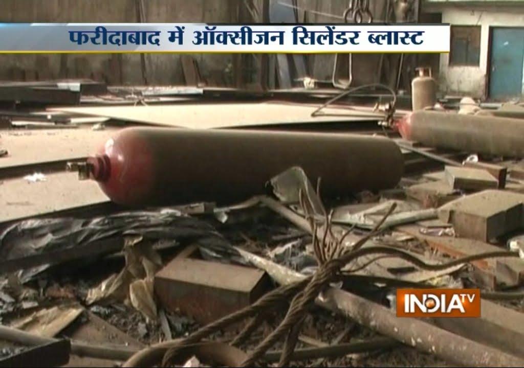 Labour Dies in Oxygen Cylinder Blast in Faridabad - India TV