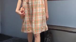 kirahosi 여자 여름 휴가룩 카라 플라워 패턴 반…